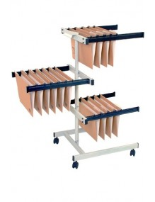 Trolley for hanging document folders