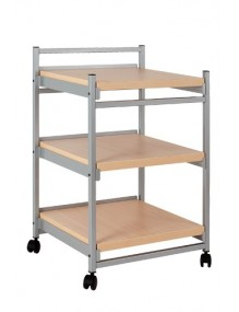 SIDE TROLLEY with wooden top panel. 3 shelves