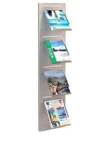 Wall-mounted metal display stand