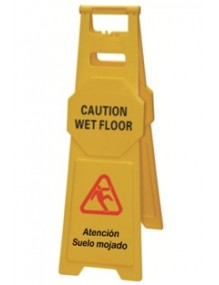 CAUTION WET FLOOR / ATENCIÓN SUELO MOJADO  / Caution wet floor