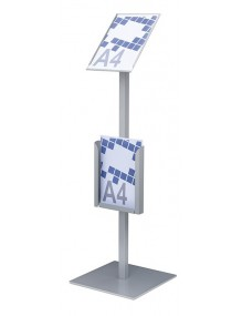 Free-standing display stand.