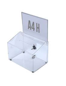 Suggestion box with support for A4H poster and lock