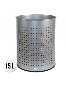 Wastepaper basket 15 Liters. Perforated metal wastebasket