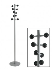 Coat rack with black ABS hooks