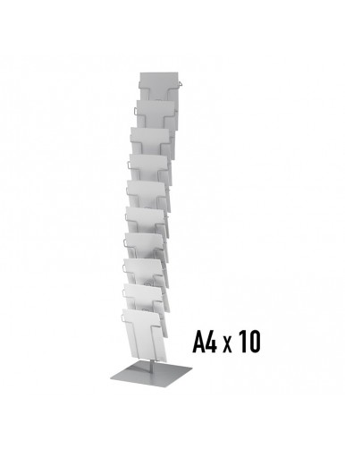 Metal display stand with 10 separators