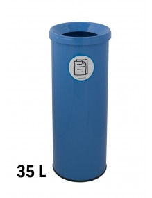 Wastepaper basket with protective ring on base. 35 Liters (AD)