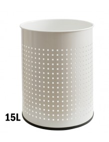 Wastepaper basket 15 Liters. White