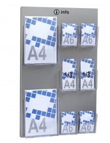 Wall-mounted metall leaflet holder display stand
