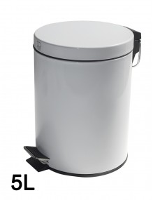 Pedal bin 5 Liters - Color White