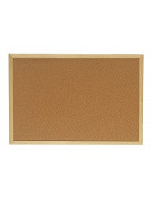 Cork board with wooden frame (90 x 60 cm)