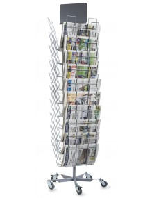 Newspaper display with 30 departments