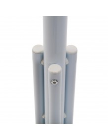 Metal coat rack stand. White color