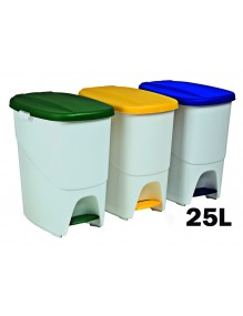 Garbage container with interior separator. 25 Liters