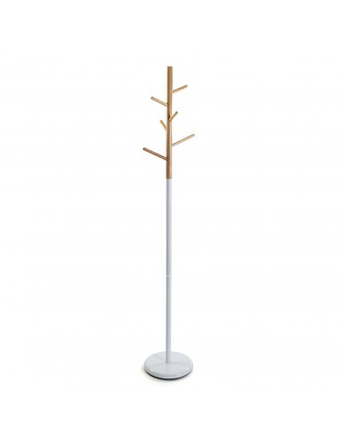 Metal/Wood ECO coat stand. Couleur blanche