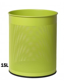 Wastepaper basket 15 Liters. Perforated metal wastebasket (Fluor)