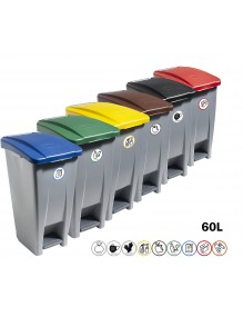 60 liter container with pedal (Recycling adhesive)