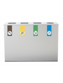 Recycling bin for 4 types of waste