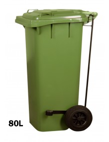 Industrial container with pedal 80L.