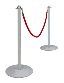ROPE BARRIER POSTS - Silver