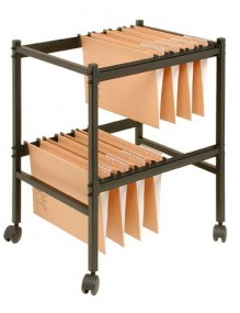 Trolley for hanging document folders. Black color