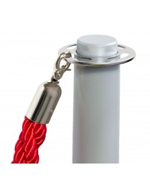 Two silver cord separator posts (2.5 m. cord)